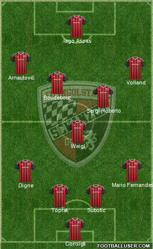 FC Ingolstadt 04 4-1-4-1 football formation