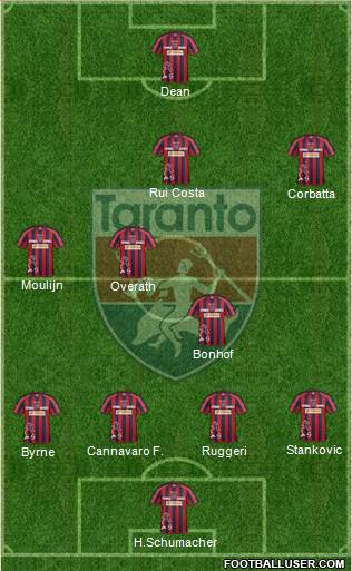 Taranto 4-2-3-1 football formation