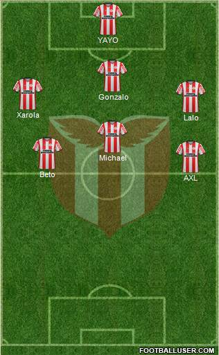 Club Atlético River Plate 4-2-4 football formation
