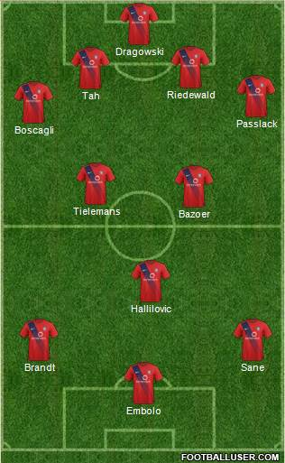 York City 4-3-3 football formation