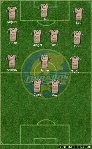 Club Dorados de Sinaloa 5-3-2 football formation