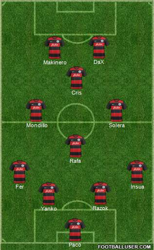 Queens Park Rangers 4-3-1-2 football formation