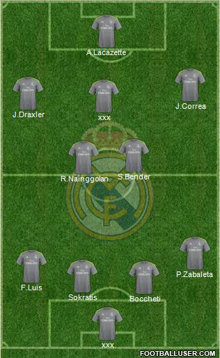 R. Madrid Castilla 4-1-2-3 football formation