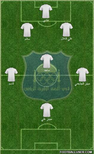 Najaf Sports Club 5-3-2 football formation