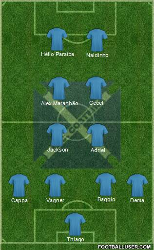 EC Costeira 4-4-2 football formation