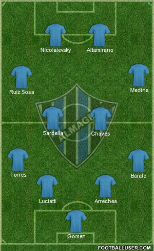Almagro 4-4-2 football formation