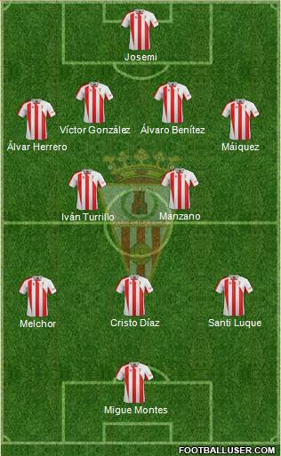 Algeciras C.F. 4-2-2-2 football formation