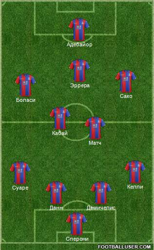 Crystal Palace 4-2-1-3 football formation