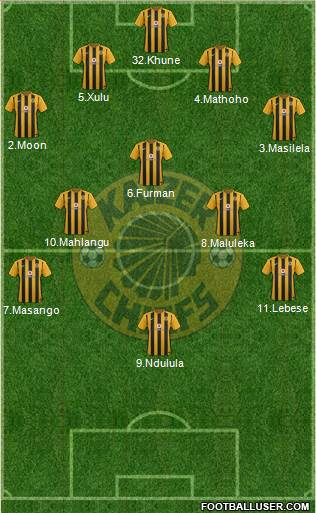Kaizer Chiefs 4-3-2-1 football formation