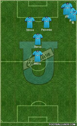 CDU Católica 5-4-1 football formation
