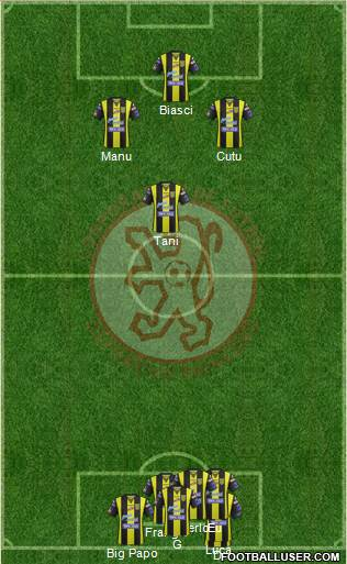 CDF Deportivo Rionegro 5-4-1 football formation