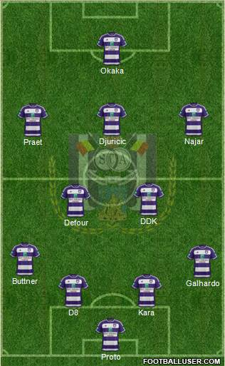 RSC Anderlecht 4-2-3-1 football formation