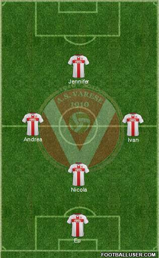 Varese 3-5-2 football formation