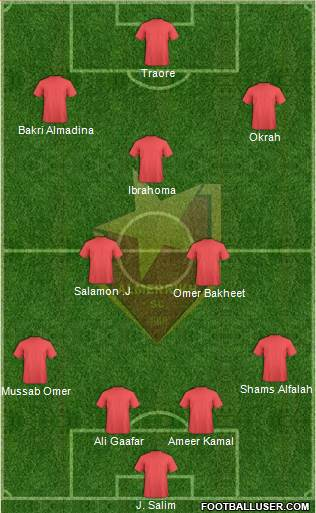 Al-Merreikh Omdurman 4-3-3 football formation