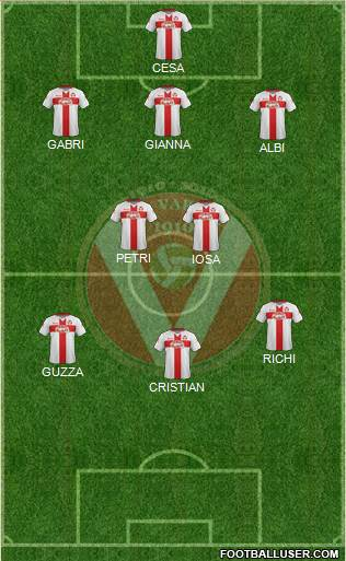 Varese 4-3-1-2 football formation