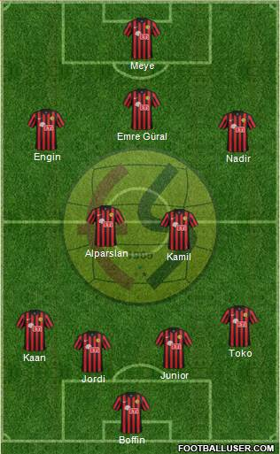Eskisehirspor 4-2-3-1 football formation