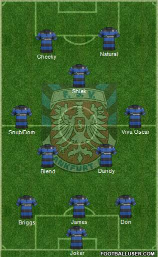 FSV Frankfurt 3-5-2 football formation