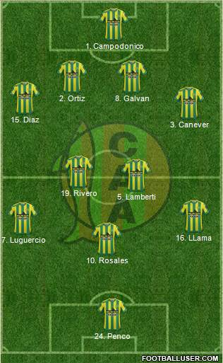 Aldosivi 4-2-3-1 football formation