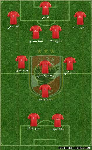 Al-Ahly Sporting Club 4-3-1-2 football formation