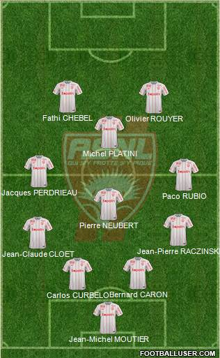 A.S. Nancy Lorraine 4-1-3-2 football formation