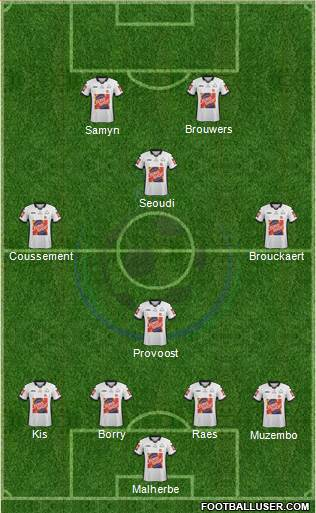 KSV Roeselare 4-4-2 football formation