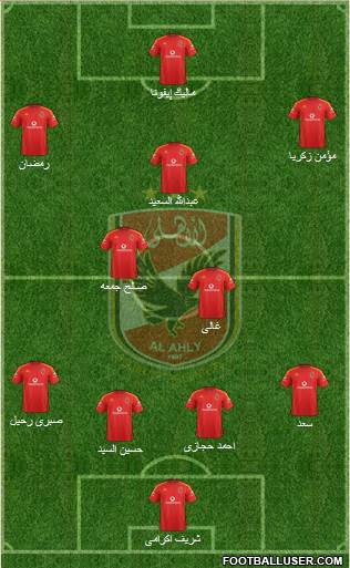 Al-Ahly Sporting Club 4-2-3-1 football formation