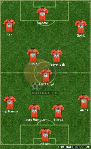Stade Lavallois Mayenne FC 4-3-3 football formation