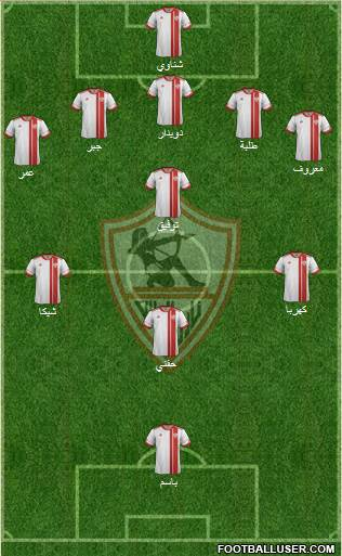 Zamalek Sporting Club 5-4-1 football formation