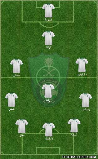 Al-Ahli (KSA) 3-5-1-1 football formation