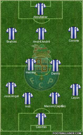 Futebol Clube do Porto - SAD 4-2-3-1 football formation