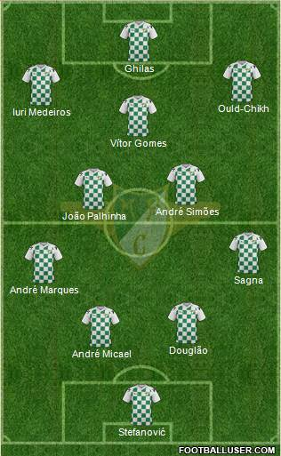 Moreirense Futebol Clube 4-2-3-1 football formation