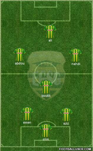 El Gawafel Sportives de Gafsa 4-3-3 football formation