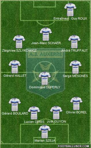 A.J. Auxerre 4-3-3 football formation