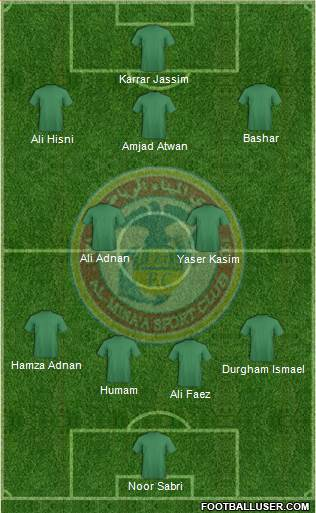 Al-Mina'a Sports Club 4-2-3-1 football formation