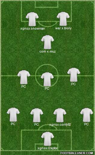 Fifa Team 4-3-1-2 football formation