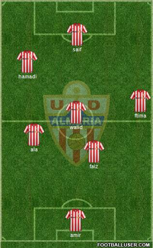 U.D. Almería S.A.D. 3-5-1-1 football formation
