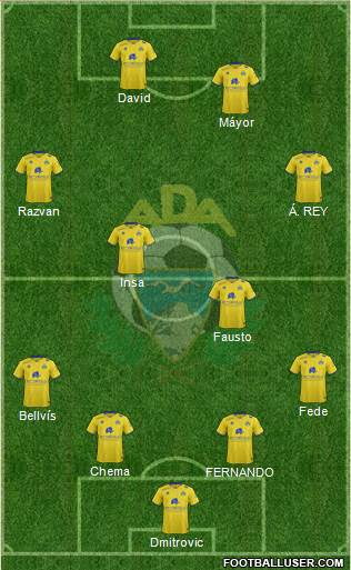 A.D. Alcorcón 4-4-2 football formation