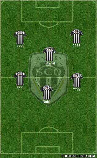Angers SCO 4-2-2-2 football formation