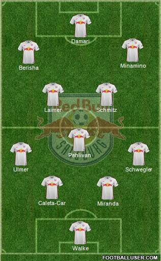 FC Salzburg 4-3-3 football formation