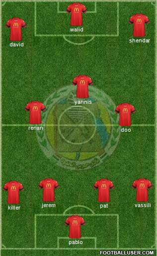 Haras El-Hodoud 4-3-3 football formation
