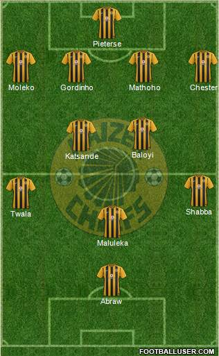 Kaizer Chiefs 4-5-1 football formation