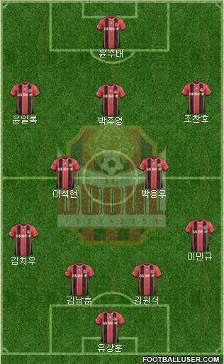 FC Seoul 4-2-3-1 football formation