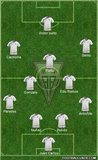 Albacete B., S.A.D. 4-3-3 football formation