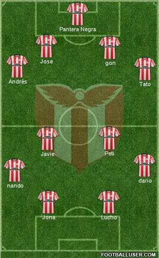 Club Atlético River Plate 4-4-1-1 football formation