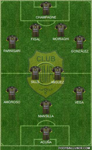 Olimpo de Bahía Blanca 4-4-1-1 football formation