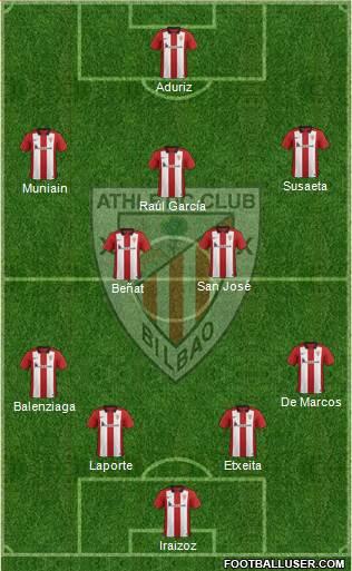 Athletic Club 4-2-3-1 football formation