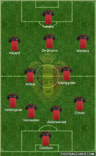 Belgium 4-1-4-1 football formation