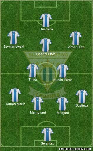 C.D. Leganés S.A.D. 3-5-2 football formation