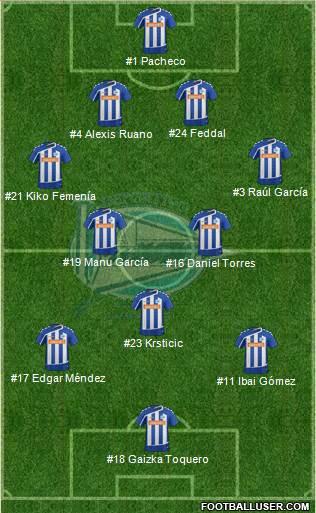 D Alavs SAD 4-2-3-1 football formation
