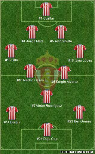 Real Sporting SAD 4-2-3-1 football formation